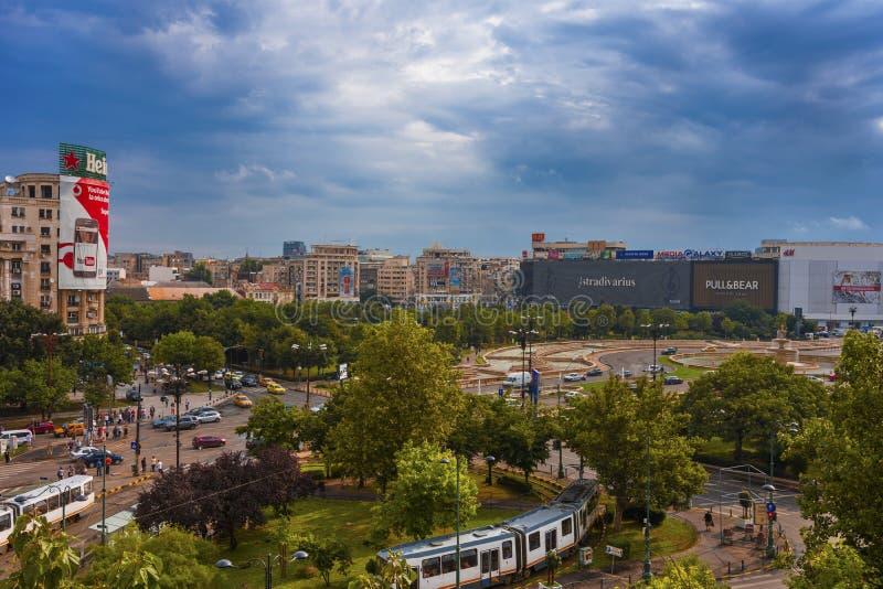 Union Square Bucareste Romênia imagens de stock royalty free