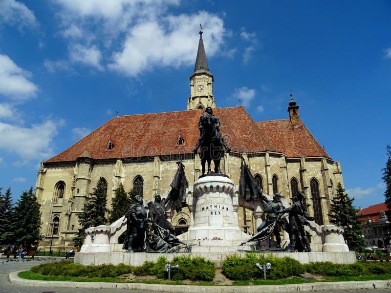 The union Square, Cluj Napoca, transylvania stock photo