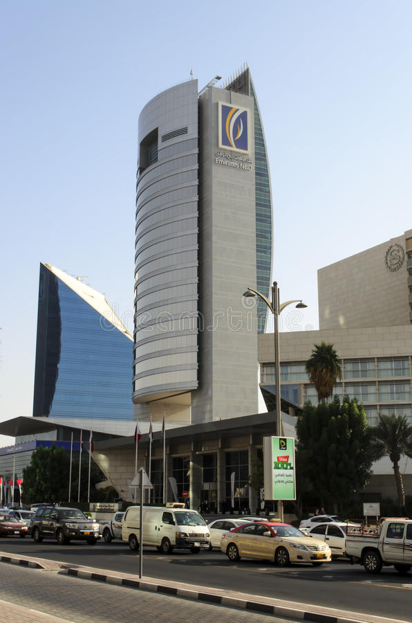 View Of National Bank Of Dubai Building At Union Square Dubai United Arab  Emirates