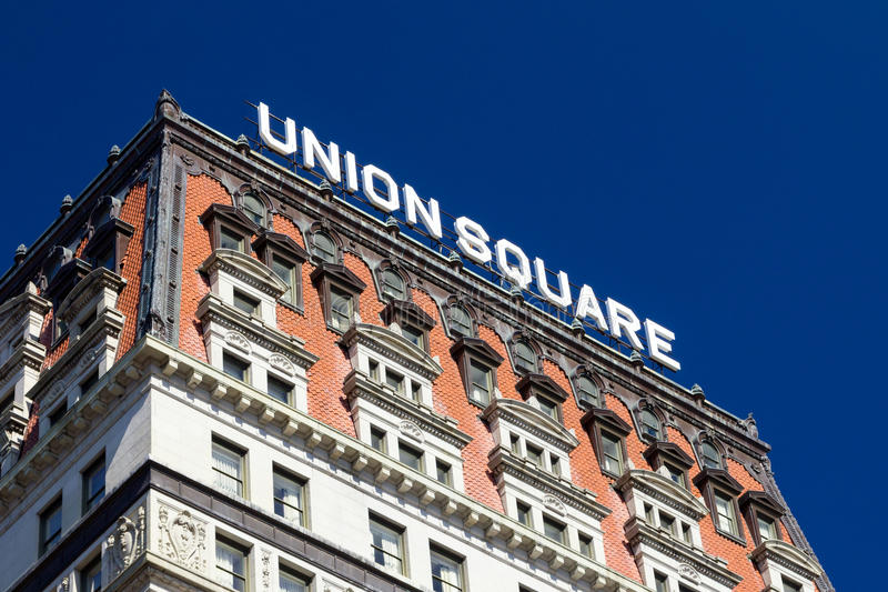 Union Square Historic Building in New York City royalty free stock photo