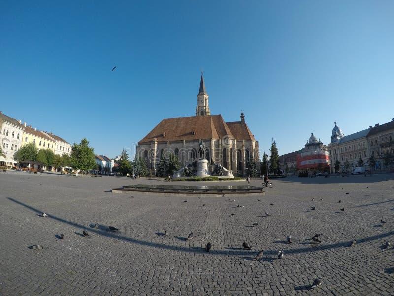 Union Square Klausenburg lizenzfreie stockfotografie