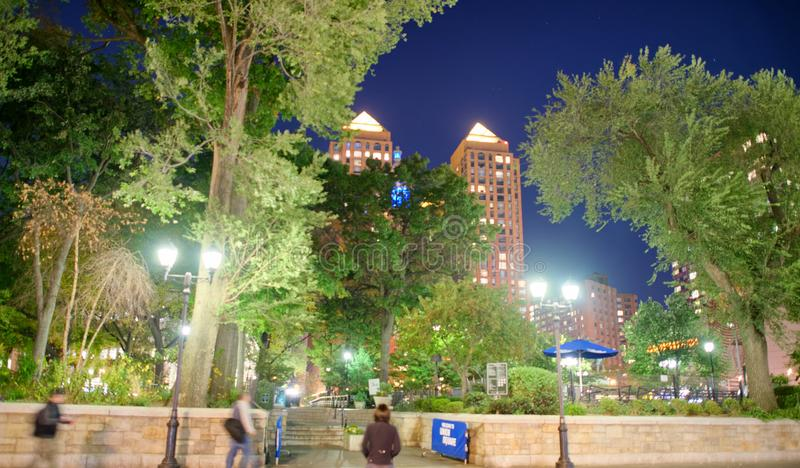 Union Square la nuit, New York City photographie stock libre de droits