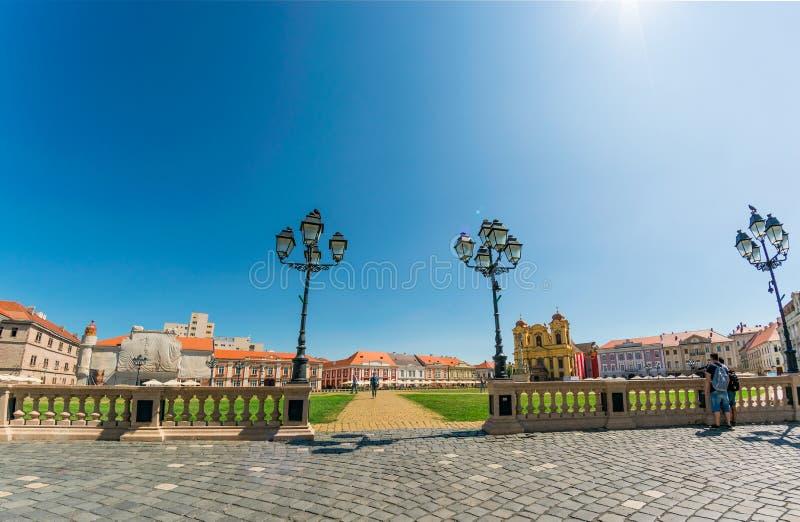 Union Square Piata Unirii, jeden piękni kwadraty Timisoara, czerwiec 5, 2019 obrazy royalty free