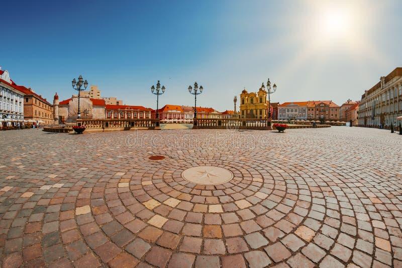 Union Square Piata Unirii, one of the most beautiful squares of Timisoara, Romania-JUNE 5, 2019.  royalty free stock photos