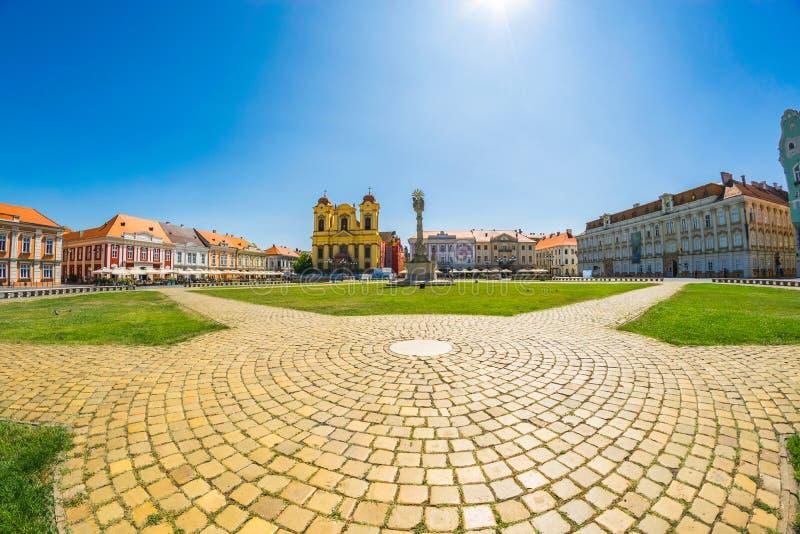 Union Square Piata Unirii, uno di quadrati più bei di Timisoara, la Romania 5 GIUGNO 2019 immagini stock libere da diritti