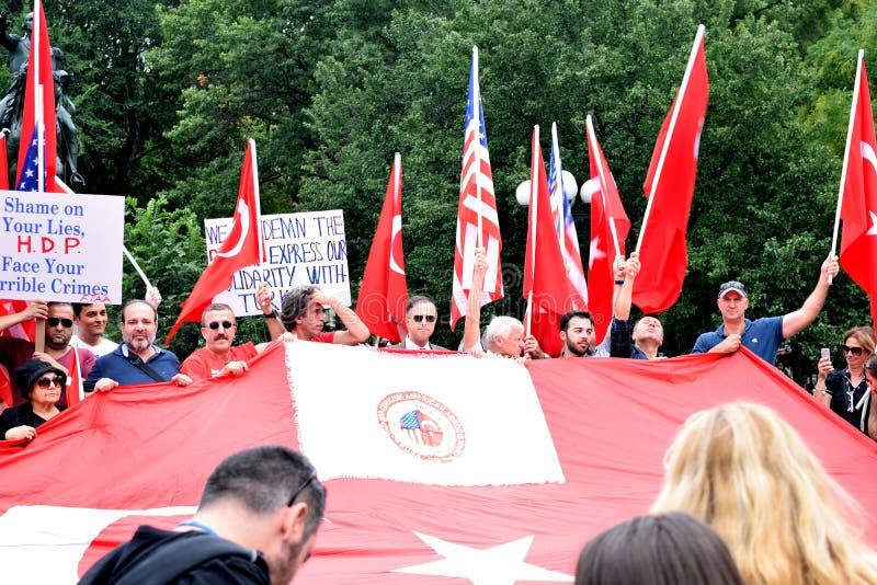 Union Square Protest - Turkey stock photo