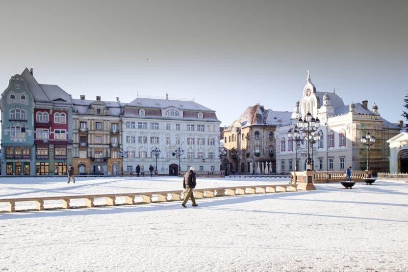 Union square in Timisoara. Historic buildings of union square plata uniririi in Timisoara Transylvania, Romania stock images