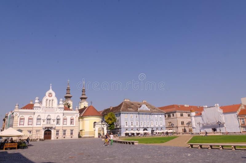 Union square in Timisoara stock photos