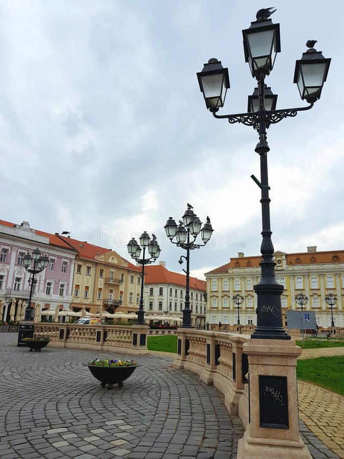 Union Square in Timisoara Romania stock photos