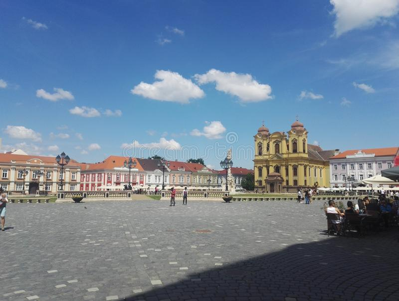 Union square in Timisoara. Union Square of Timisoara, Romania, representative of the Baroque style and the oldest market in town royalty free stock images