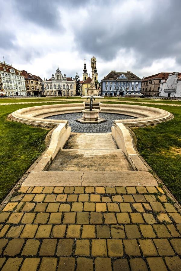 Timisoara`s Union square, Romania royalty free stock images