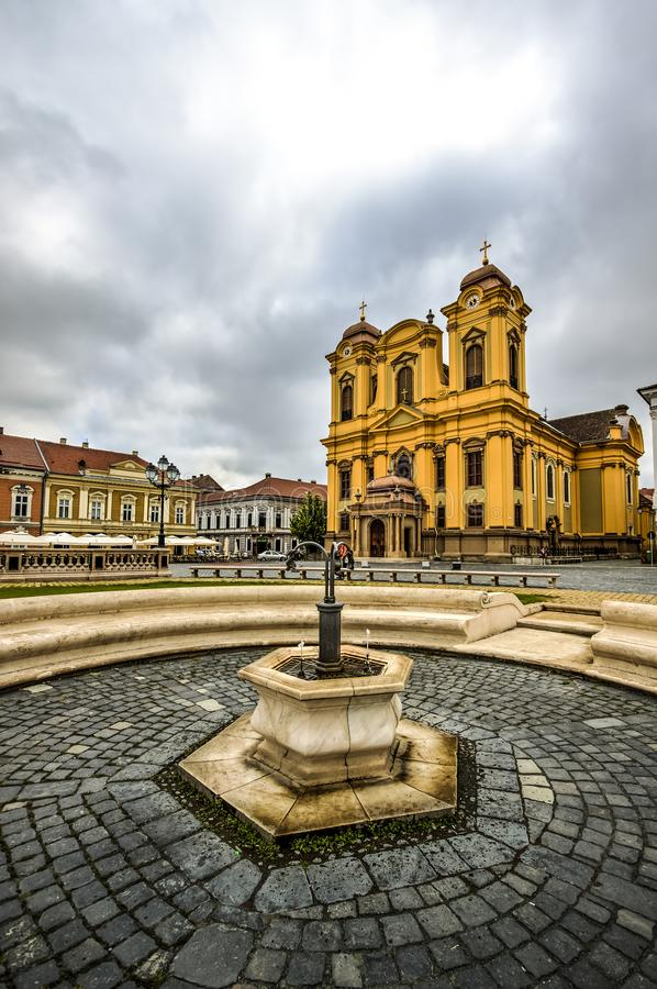 Timisoara`s Union square, Romania. Union square or Unirii Square is the main square of the city of Timisoara, Romania royalty free stock photos