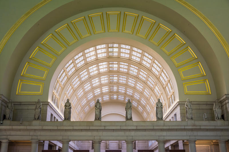 Union station architecture Washington DC en novembre 2016 intérieur images libres de droits