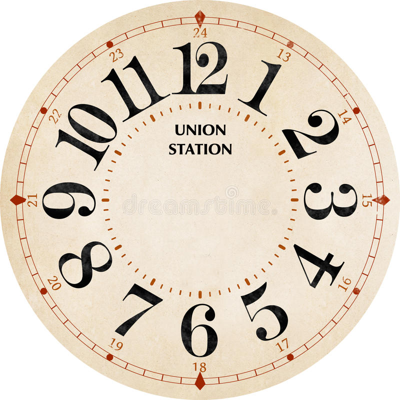 Union station clock stock images