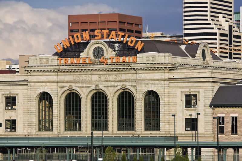 Union Station in downtown of Denver royalty free stock photos