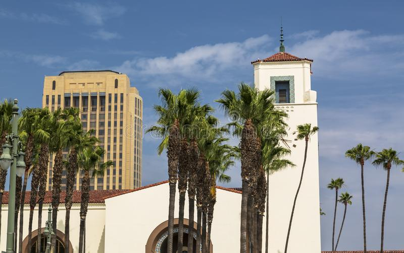 Union Station, Downtown Los Angeles stock photos
