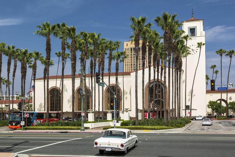 Union Station, Downtown Los Angeles, California, United States of America. stock photography