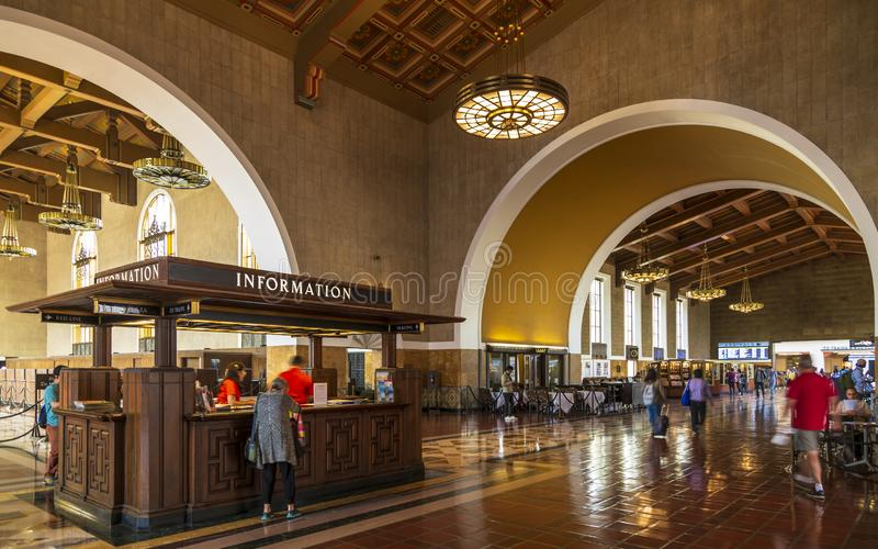 Union Station, Downtown Los Angeles, California, United States of America. stock photos