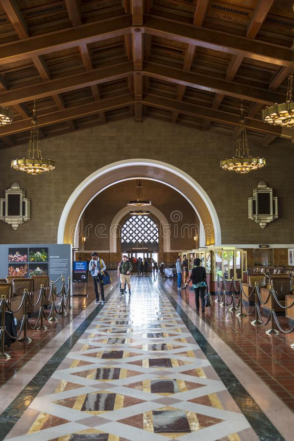 Union Station, Downtown Los Angeles, California, United States of America. stock photo