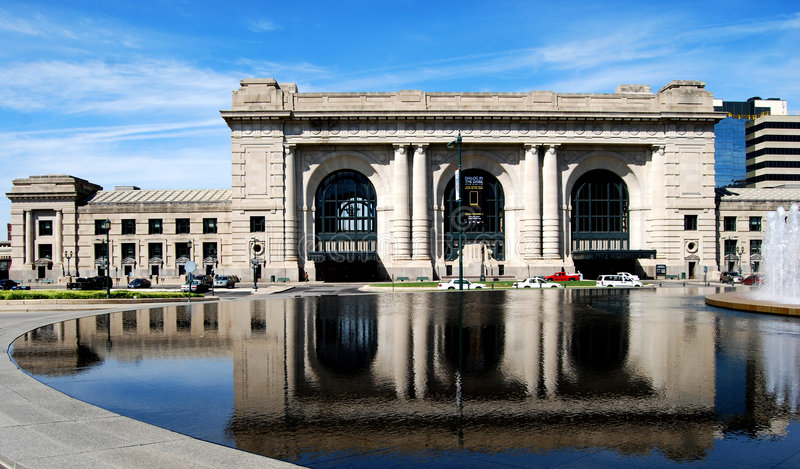 Union Station Front Downtown Kansas City stock image
