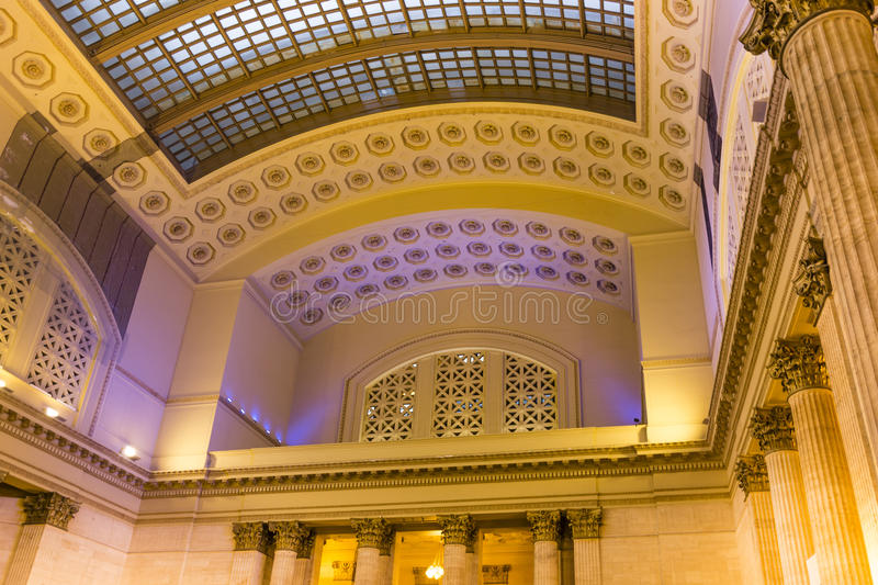 Union Station Hall in Chicago stock image