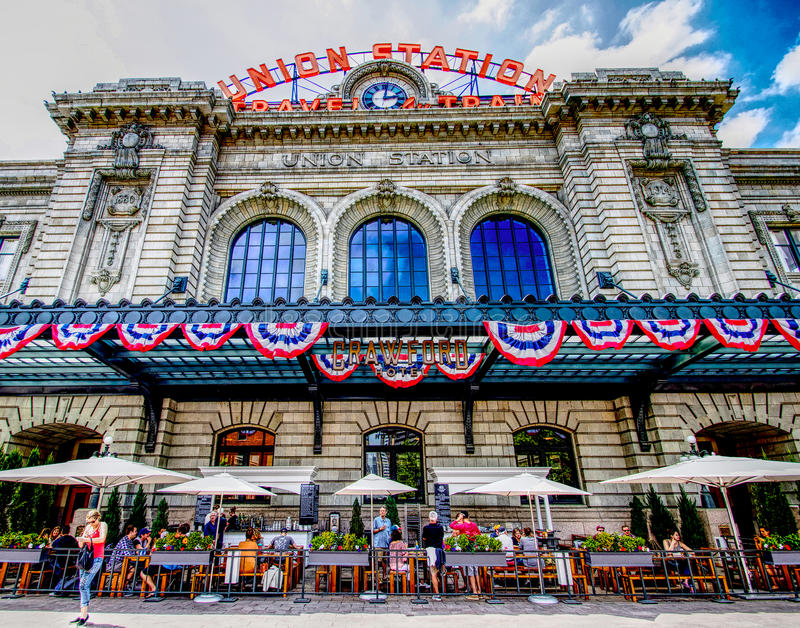 Union Station HDR stock photography