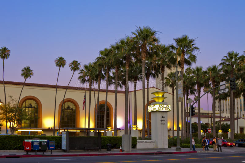 Union Station of Los Angeles stock photo