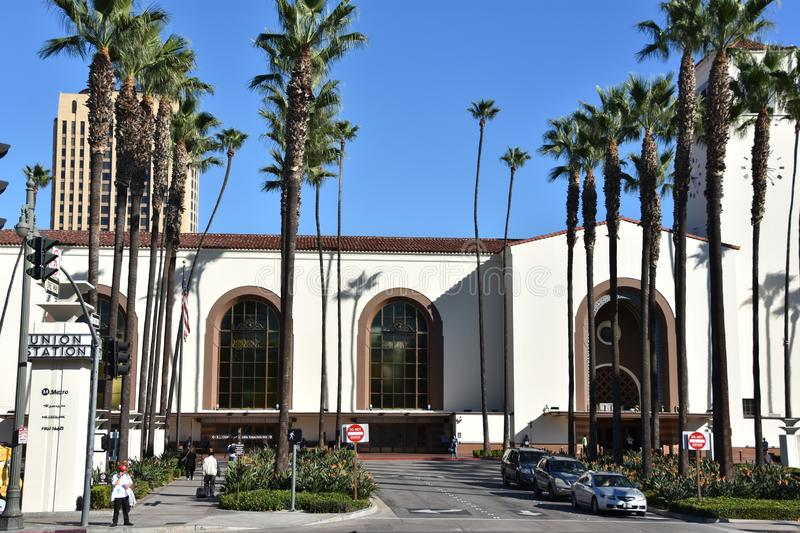 Union Station in Los Angeles, California stock images
