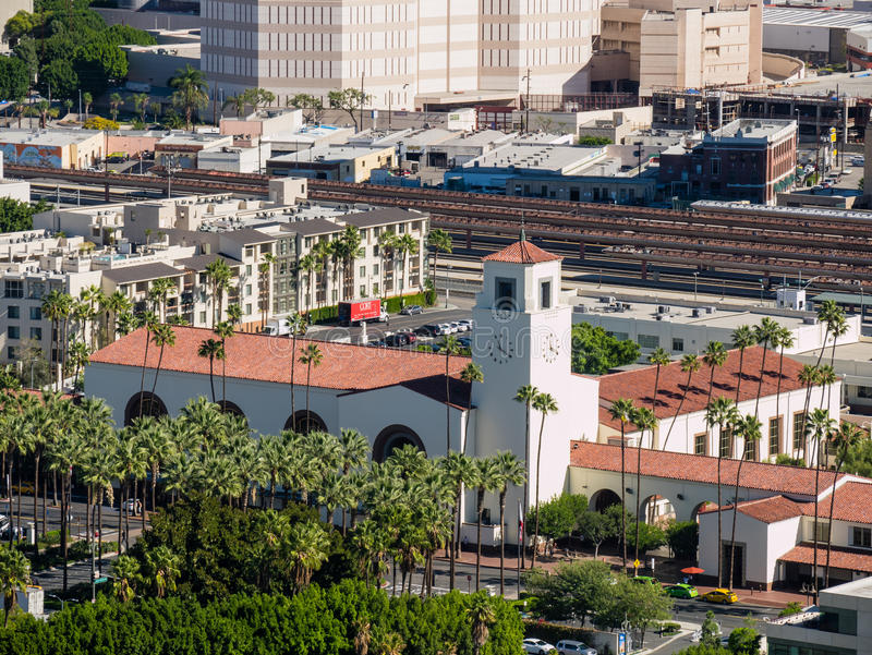 Union station at Los Angeles downtown royalty free stock image
