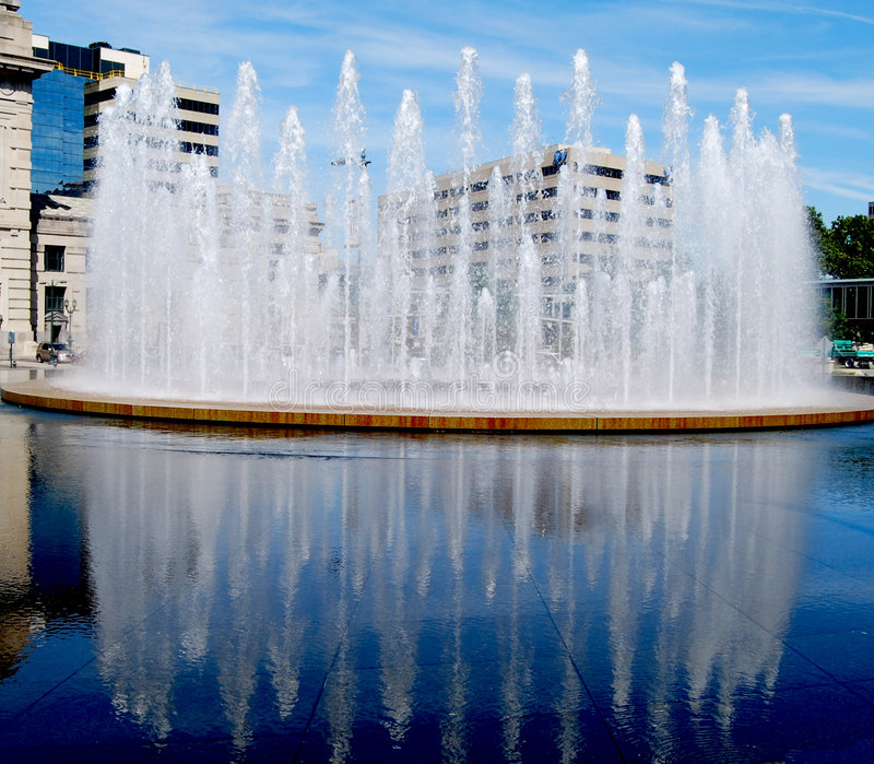 Union Station Waterfall Kansas City royalty free stock images