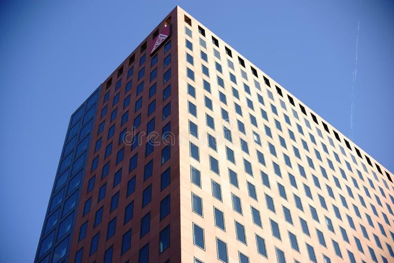 Unione del grattacielo Francoforte del metallo immagine stock libera da diritti