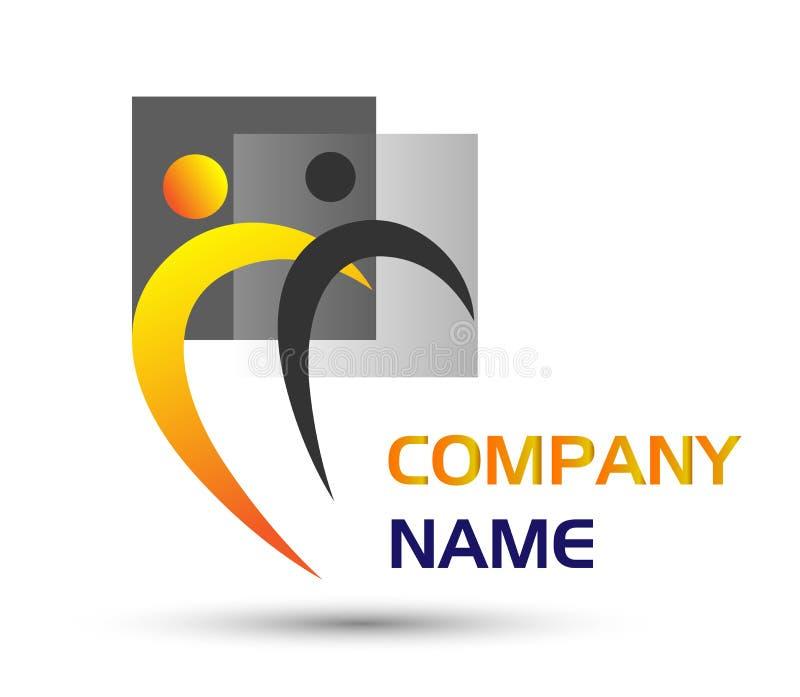 Unione della gente, logo di concetto del lavoro di gruppo della gente illustrazione vettoriale