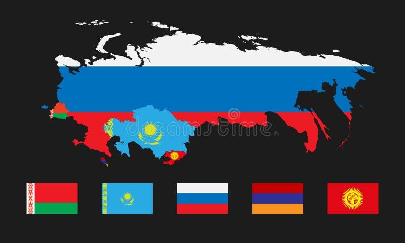 Unione economica euroasiatica 4 royalty illustrazione gratis