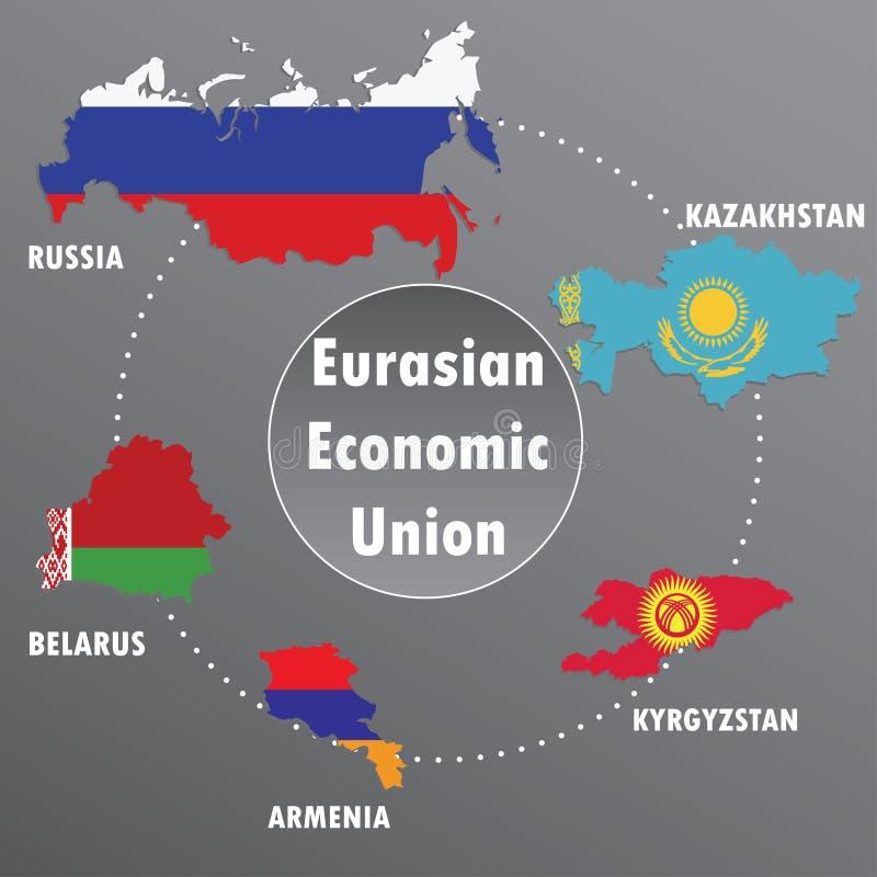 Unione economica euroasiatica illustrazione di stock