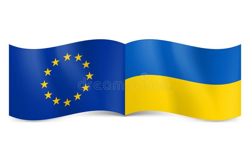 Unione Europea e l'Ucraina. royalty illustrazione gratis
