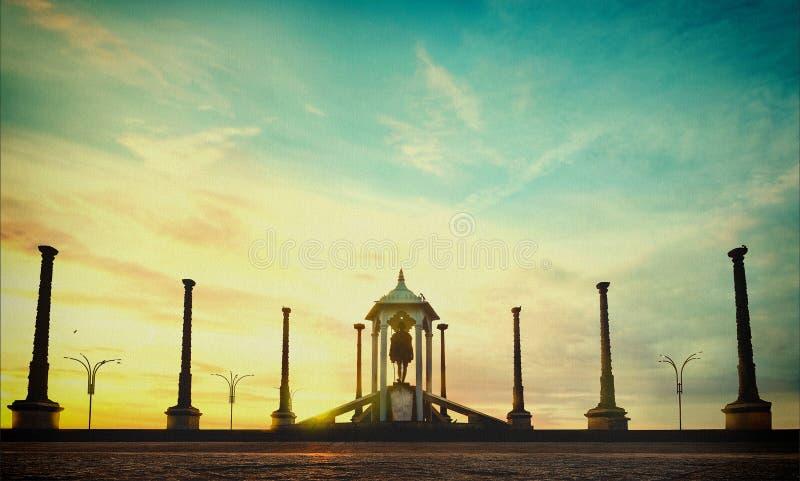 Unione francese dell'India del coloniale di Pondicherry trritory immagini stock