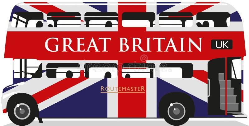 Unione Jack Routemaster Bus illustrazione vettoriale
