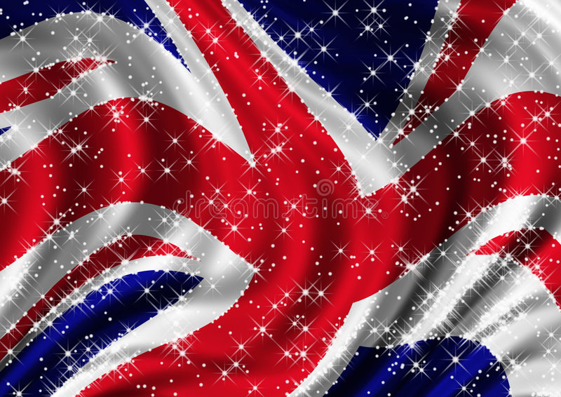 Download Unione Jack Stellata Che Billowing In Vento Illustrazione di Stock - Illustrazione di britain, billow: 7315050