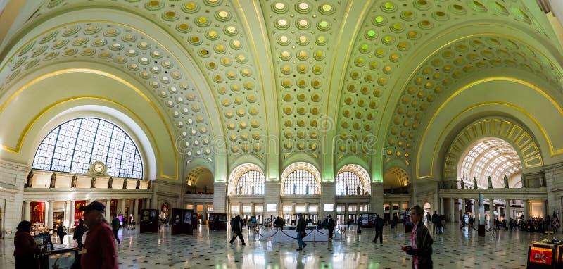 Unione stazione architettura Washington DC novembre 2016 interno fotografie stock libere da diritti