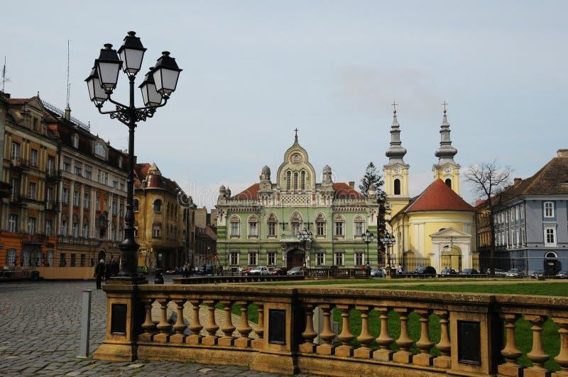 Unione Timisoara quadrato, Romania fotografia stock