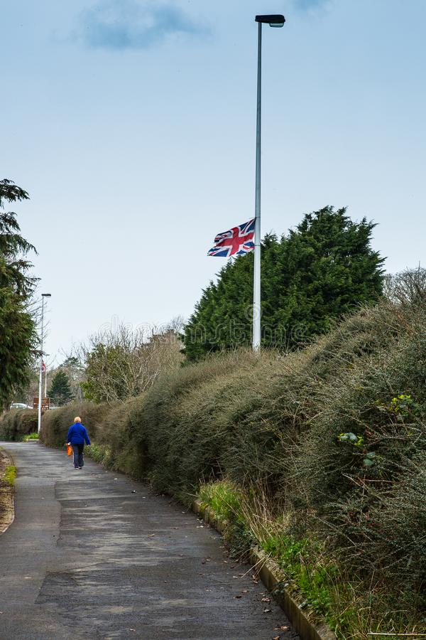 Unionflagga, Antrim som är nordlig - Irland royaltyfri fotografi