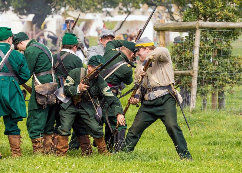 Unionsarmee-Scharfschützen des amerikanischen Bürgerkrieges lizenzfreie stockfotografie