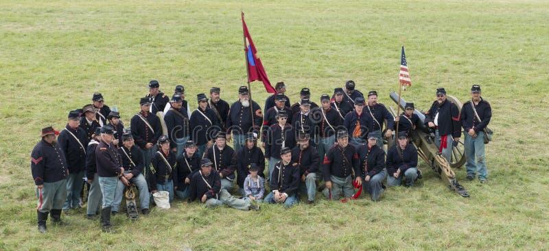 Unionsoldater på Gettysburg royaltyfri foto