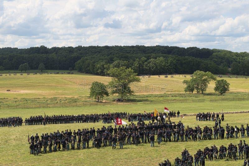 Unionsoldater på Gettysburg arkivbilder