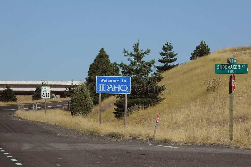 Welcome to idaho united states of america. UNIONTOWN/WASHINGTON /  02 September 2019 /  Welcome to idaho state united states of America royalty free stock image