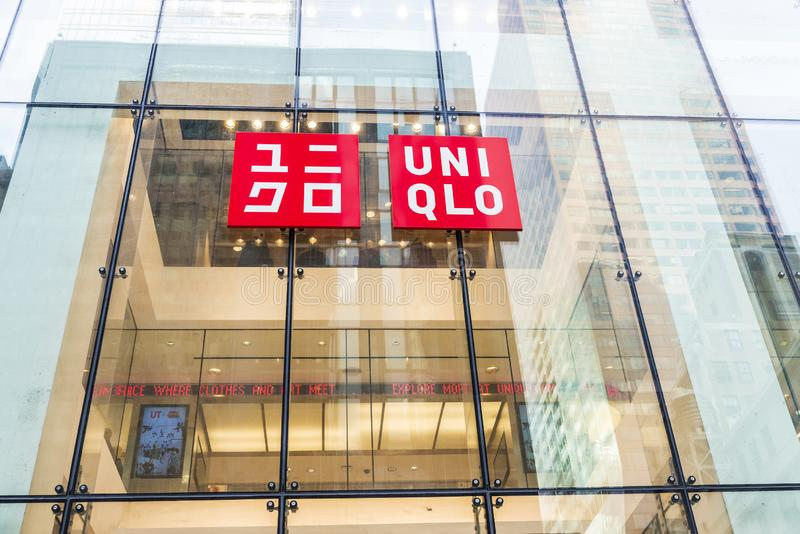 Uniqlo lager i New York City, USA arkivbilder