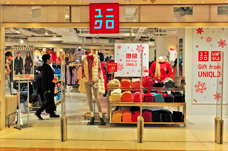 Uniqlo mody sklep, Hong kong obrazy royalty free
