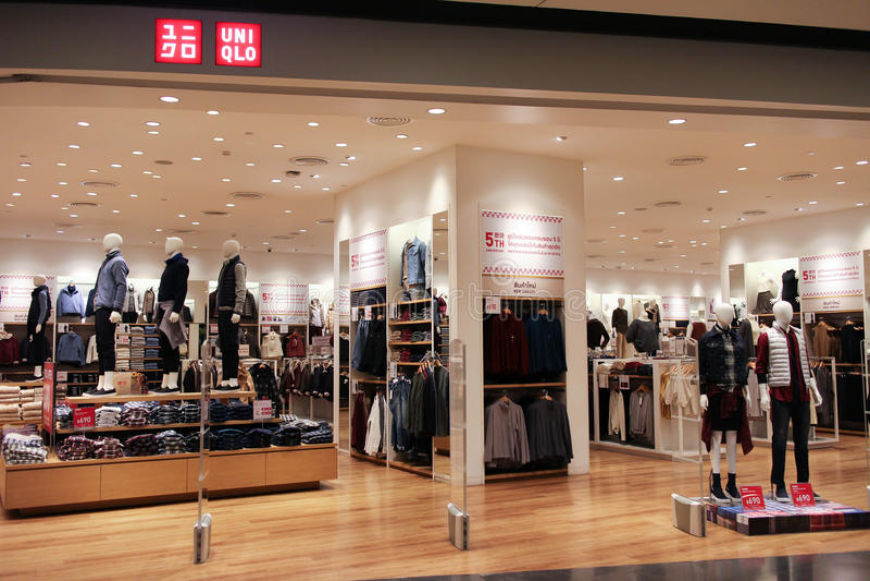 Uniqlo-Speicher, japanischer Freizeitkleidungsdesigner lizenzfreie stockbilder