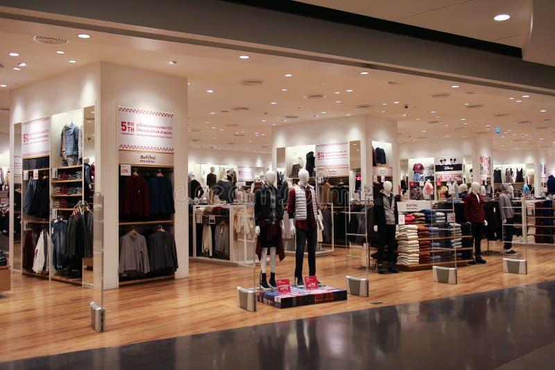 Uniqlo-Speicher, japanischer Freizeitkleidungsdesigner stockbilder