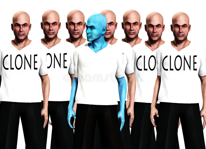 Download Unique 2 stock illustration. Image of clothing, cloned - 3532277